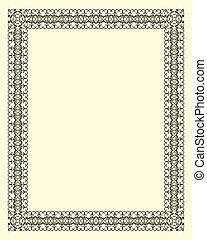 décoratif, cadre, vendange
