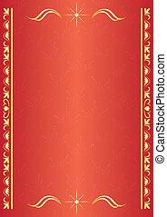 décoratif, carte rouge, tracery