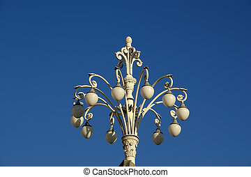 décoratif, centre, moscou, lampe, rue, russie