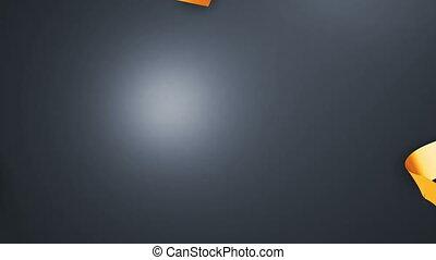 décoratif, channel., 5, beau, alpha, écran, 3d, bow., ouverture, 1., knot., délier, hd, rubans, vert, éléments, 3840x2160., vidéos, cadeau, boîte déballage, grand, 4k, animation, ultra