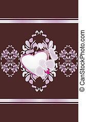 décoratif, coeur, ornement