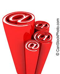 décoratif, concept, symbole, élément, alias, conception, email