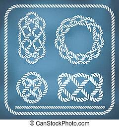 décoratif, corde, nœuds