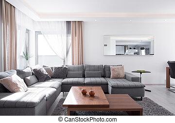 décoratif, coussins, coin, sofa