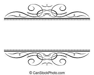 décoratif, décoratif, cadre, vignette, calligraphie, ...