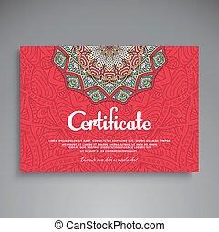 décoratif, décoratif, card., business, vendange, floral, ...