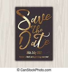 décoratif, date, sauver, 1309, invitation
