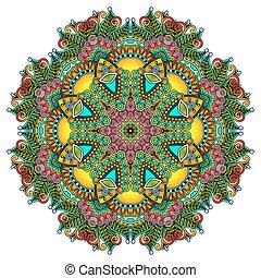 décoratif, dentelle, modèle géométrique, ornement, napperon...