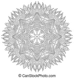 décoratif, dentelle, ornement, modèle, géométrique,...