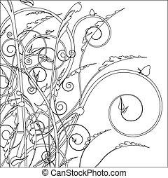 décoratif, dessin ligne