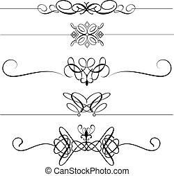 décoratif, diviseurs, page