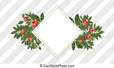 décoratif, fleur, espace, rose, copie, porte-photo