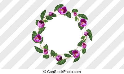 décoratif, fleur rose, espace, copie, porte-photo