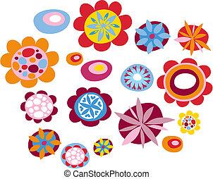 décoratif, fleurs