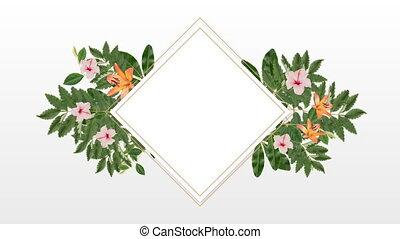 décoratif, fleurs, rose, espace copy, orange, porte-photo