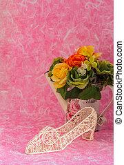 décoratif, fleurs, vase