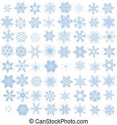 décoratif, flocons neige