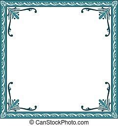 décoratif, floral, cadre