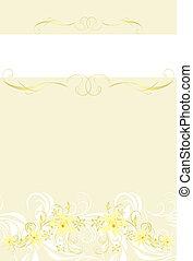 décoratif, floral, fond