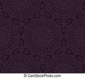 décoratif, floral, pattern., seamless