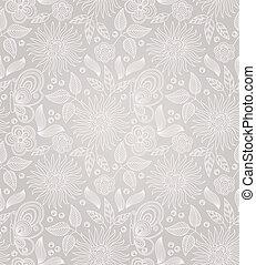 décoratif, floral, seamless, fond