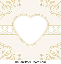 décoratif, fond, coeur
