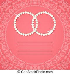 décoratif, fond, pour, invitation mariage