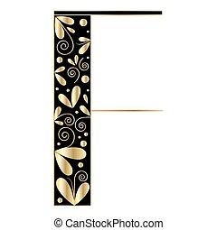 décoratif, forme, lettre f