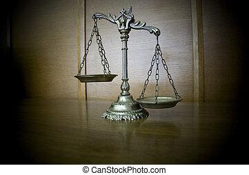décoratif, justice, balances
