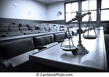 décoratif, justice, salle audience, balances
