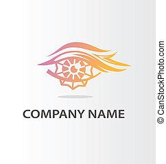 décoratif, logo, oeil