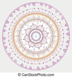 décoratif, mandala., indien, pattern.
