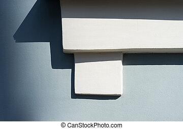 décoratif, mur, élément architectural