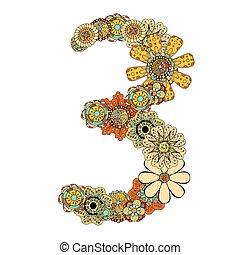décoratif, numéro trois