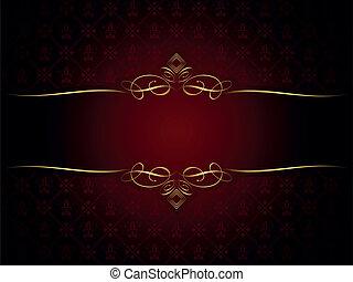 décoratif, or, cadre