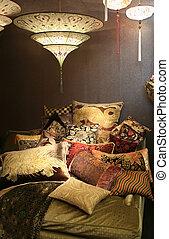 décoratif, oreillers