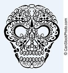 décoratif, ornement, crâne