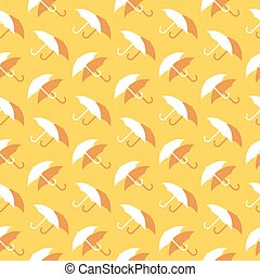 décoratif, parapluie, modèle, seamless, pluie, protection, fond