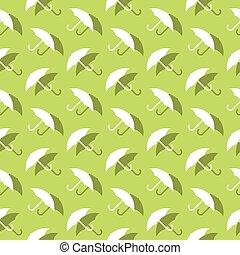 décoratif, parapluie, modèle, seamless, protection, fond