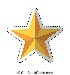 décoratif, peu, étoile, icône