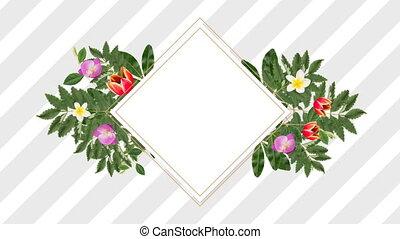 décoratif, pourpre, fleurs, espace, blanc rouge, copie, porte-photo