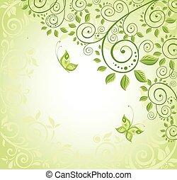 décoratif, printemps, fond