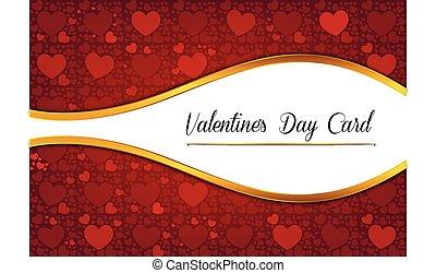 décoratif, résumé, jour, valentine