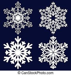 décoratif, résumé, snowflake.