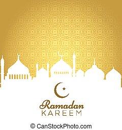décoratif, ramadan, fond