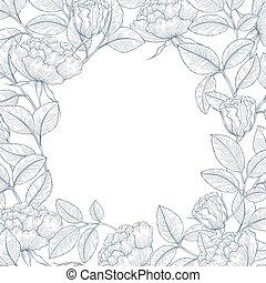 décoratif, rose, jardin anglais