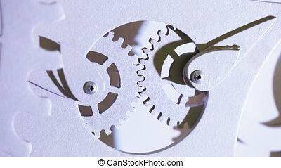 décoratif, rouage horloge