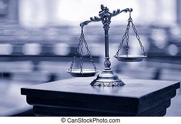 décoratif, salle audience, justice, balances