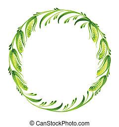 décoratif, saule, branche, chat