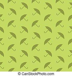 décoratif, silhouette, modèle, seamless, protection, fond, parapluie